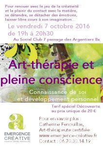 Séance art-thérapie et mindfulness au Social Club
