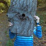 Masque en écorce de chêne